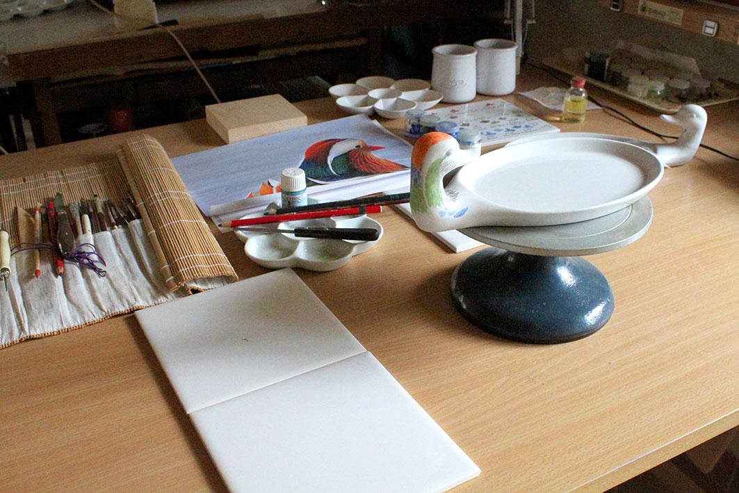 Atelier peinture sur porcelaine le 5 octobre